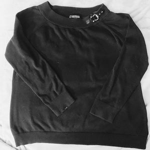 Ralph Lauren Cute Black Sweater with Buckle!